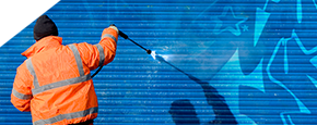 Milwaukee power wash & cleaning services - Get rid of graffiti fast with Efficient Cleaning
